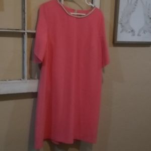 Coral colored Karl lagerfeld shift dress